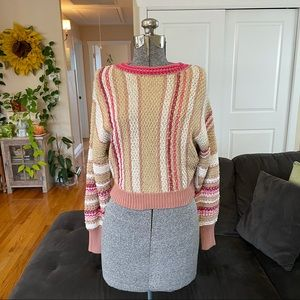 FREE PEOPLE KNIT CROP TOP SWEATER NWT